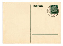 Carte postale allemande Hindenburg du Reich photographie stock