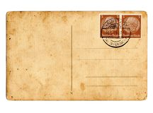 Carte postale allemande Hindenburg du Reich images stock