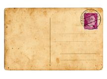 Carte postale allemande Hitler du Reich images stock