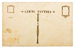 Carte postale antique Photos libres de droits