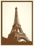 Carte postale antique de Tout Eiffel Images stock