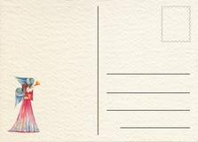 Carte postale arrière tirée par la main Photo stock