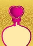 Carte postale au régal de Valentine Images stock