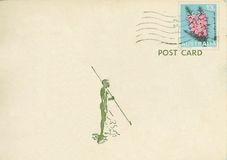 Carte postale australie de cru photos stock