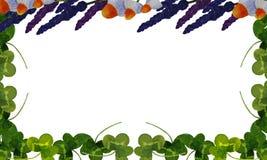 Carte postale avec des illustrations des plantes médicinales illustration de vecteur
