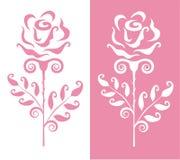 Carte postale avec des roses Photos stock