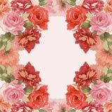 Carte postale avec le bouquet de luxe des pivoines Photo libre de droits