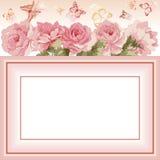 Carte postale avec le bouquet de luxe des pivoines Image stock