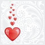 Carte postale avec le coeur. Photo libre de droits