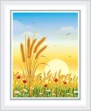 Carte postale avec le paysage naturel illustration libre de droits