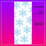 Carte postale avec le rectangle ornemental des étoiles six-aiguës avec le thi Photo stock