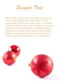 Carte postale avec les décorations et le texte de Noël-arbre Photos stock