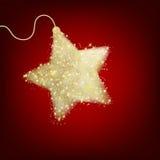 Carte postale avec une étoile de rouge de scintillement. ENV 8 Photos libres de droits