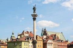Carte postale avec Varsovie en Pologne Photos libres de droits