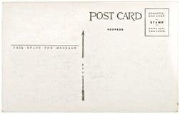 Carte postale blanc de cru image libre de droits