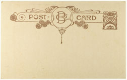 Carte postale blanc de cru Photos libres de droits