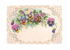 Carte postale démodée Images stock