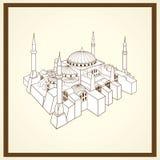 Carte postale d'église de Santa Sofia Images stock