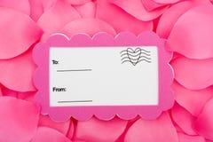 Carte postale d'amour Image libre de droits