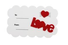 Carte postale d'amour Photo stock
