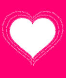 Carte postale d'amour Photographie stock