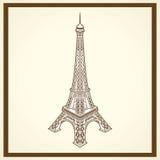 Carte postale d'Eiffel de visite Image libre de droits