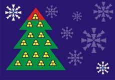 Carte postale d'entreprise de cabane dans un arbre Illustration Libre de Droits