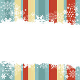 Carte postale d'invitation de l'hiver avec des flocons de neige Photo stock