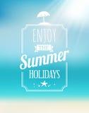 Carte postale de bord de la mer d'été Images stock