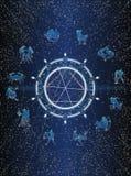 Carte postale de cercle de Zodiak Images libres de droits