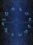 Carte postale de cercle de Zodiak Photographie stock libre de droits