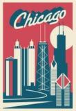 Carte postale de Chicago l'Illinois illustration libre de droits