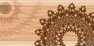 Carte postale de chocolat Photos libres de droits