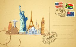 Carte postale de course illustration libre de droits
