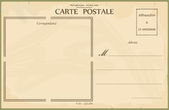 Carte postale de cru Photos stock