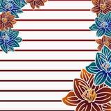 Carte postale de fleur Images stock