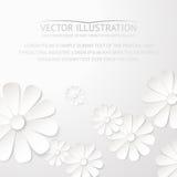 Carte postale de fleur de livre blanc. illustration de vecteur