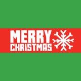 Carte postale de flocon de neige de Joyeux Noël Image libre de droits