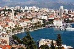 Carte postale de fractionnement, Croatie Photos libres de droits