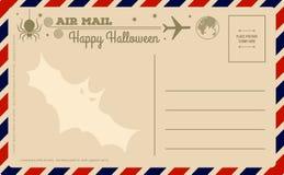 Carte postale de Halloween de vintage illustration libre de droits