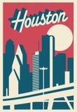 Carte postale de Houston Texas illustration de vecteur