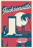Carte postale de Jacksonville la Floride illustration stock