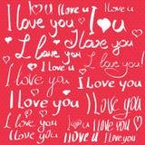 Carte postale de jour de valentines Images stock