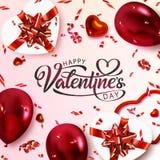 Carte postale de jour de valentines illustration libre de droits