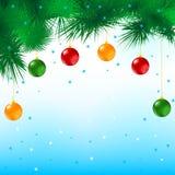 Carte postale de Joyeux Noël Photo libre de droits