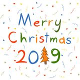 Carte postale de Joyeux Noël illustration stock