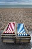 Carte postale de la mer, côte BRITANNIQUE Photos libres de droits