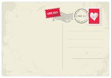Carte postale de lettre d'amour Photographie stock libre de droits