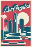 Carte postale de Los Angeles la Californie illustration stock