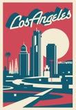 Carte postale de Los Angeles la Californie illustration libre de droits